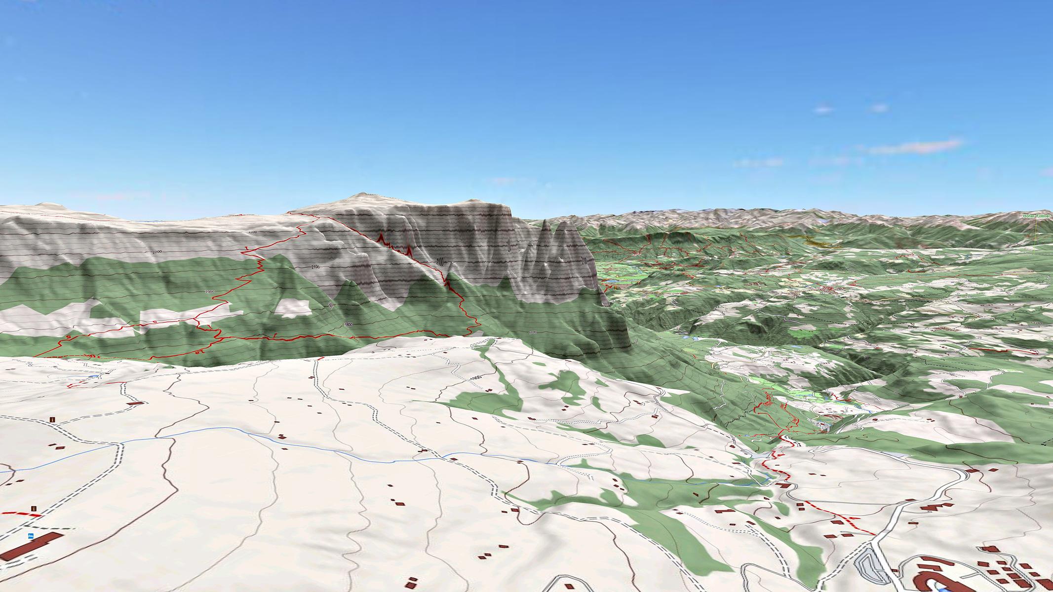 Massiccio dello Sciliar 3D Map